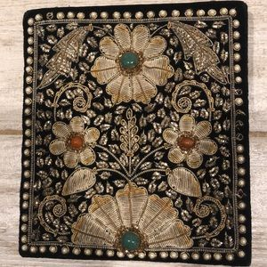 Huguette Creations Real Gold Embroidered Bag